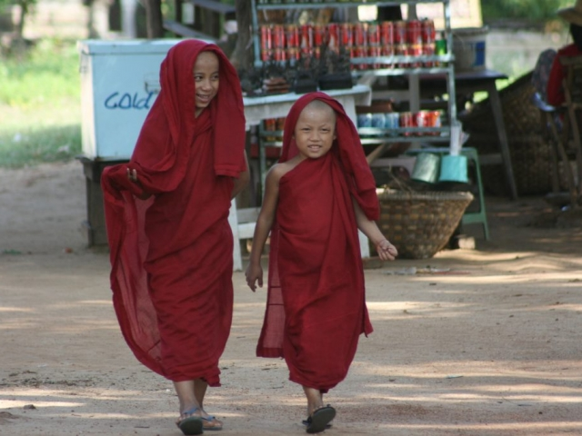 Novice Monks at Mingun