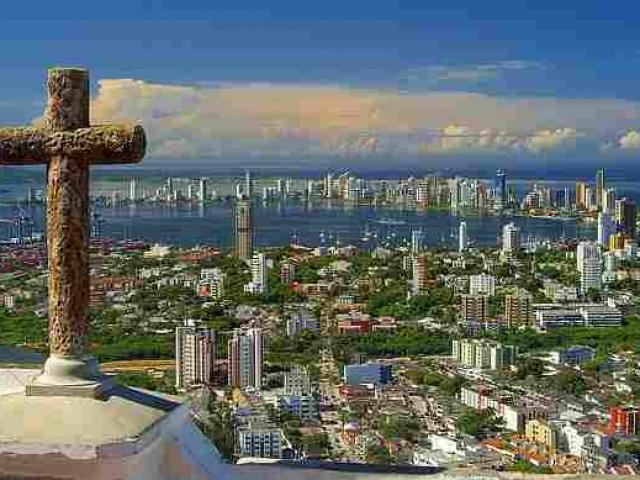 Colombia, Cartagena, Convent of Santa Cruz de la Popa Cross