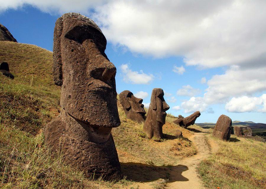 Chile, Easter Island, Moai Statues