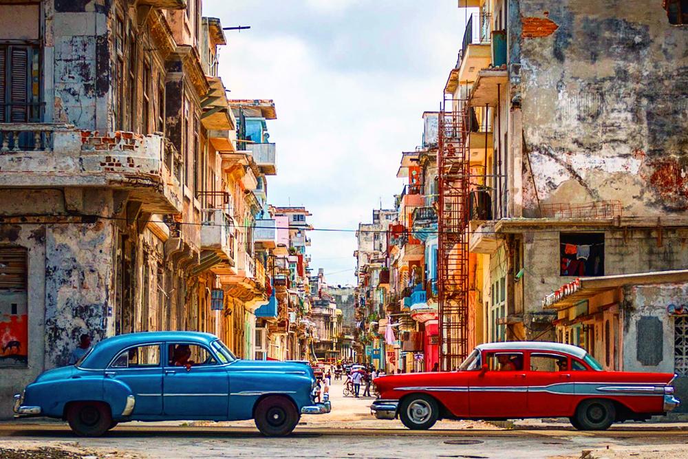 Cuba, Havana, Vintage Cars