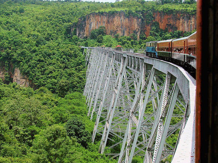 Unseen Myanmar, Train over the Goteik Viaduct