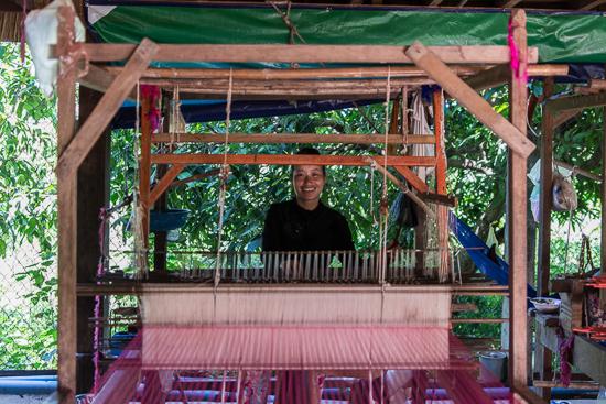 Koh-Dach Island, Silk Weaving