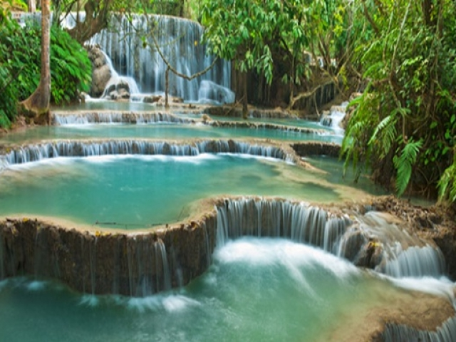Pandaw Cruises - Luang Prabang, Khuang Si Waterfall