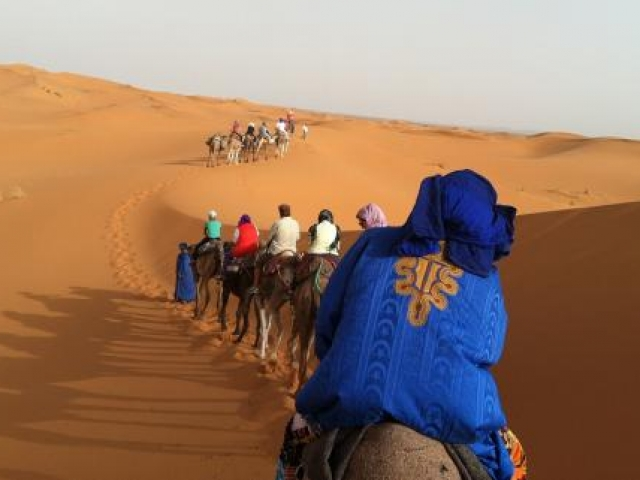 Morocco, Riding a Camel in the Desert
