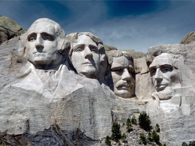 America, South Dakota. Mount Rushmore National Memorial