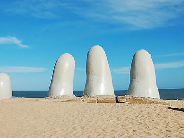 Uruguay, Punta Del Este Beach, El Mano (The Hand)