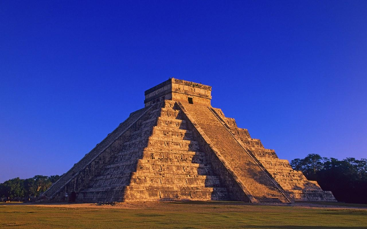 Mexico, Progreso, Castillo Pyramid