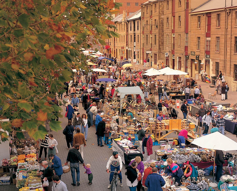 Tasmania, Hobart, Salamanca Markets