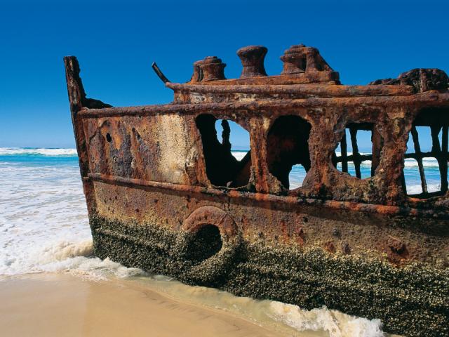 Queensland, Fraser Island, Maheno Shipwreck
