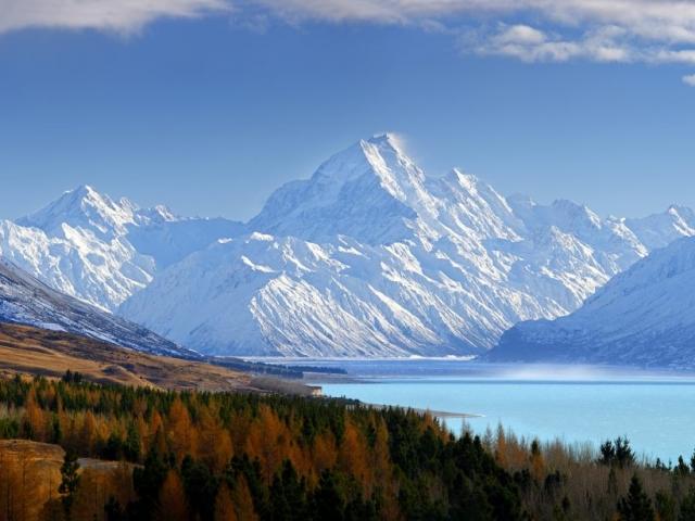 New Zealand, Mount Cook & Lake Pukaki