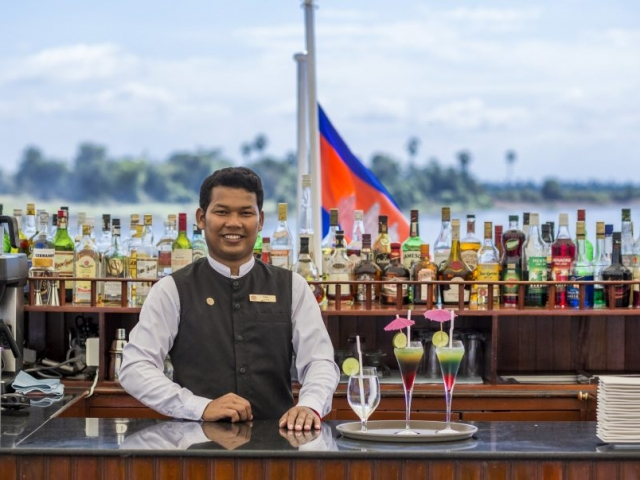 Friendly Pandaw Bar Staff