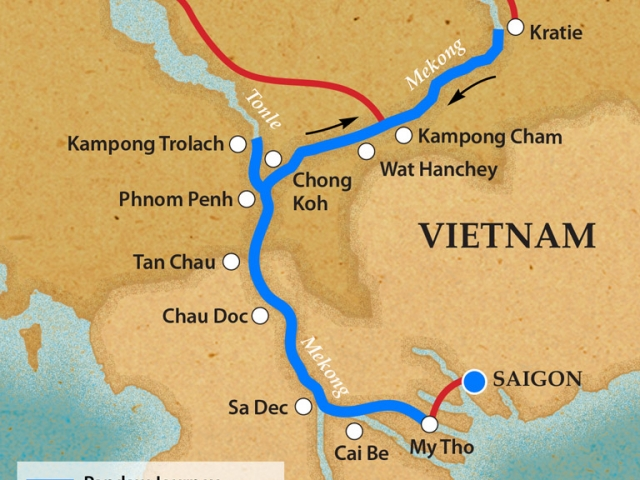 Classic Mekong - Itinerary & Map