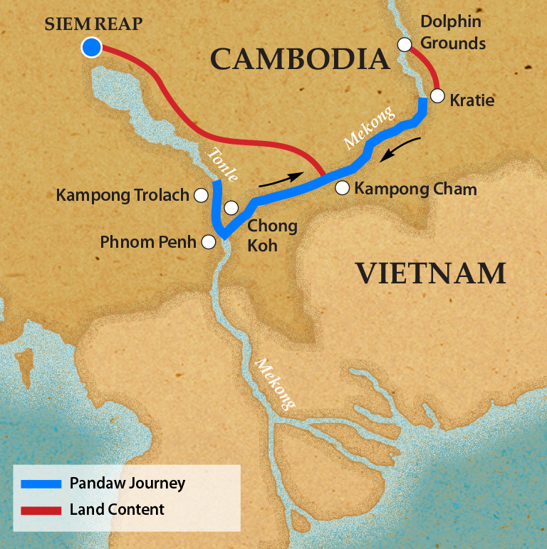 Phnom Penh & Siem Reap - Itinerary & Map
