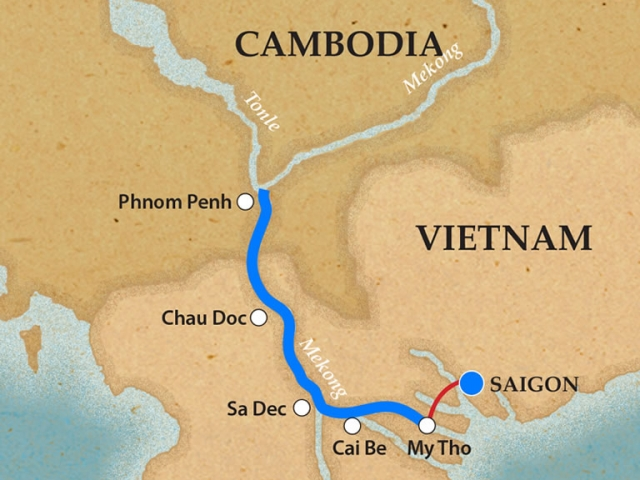 Saigon & Phnom Penh - Itinerary & Map