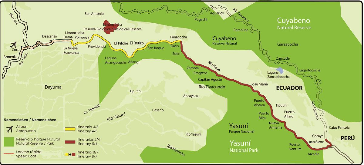 MV Anakonda Cruise Itinerary & Map