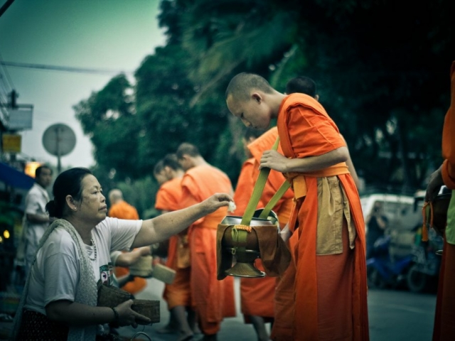 Giving of Alms to Monks in Luang Prabang