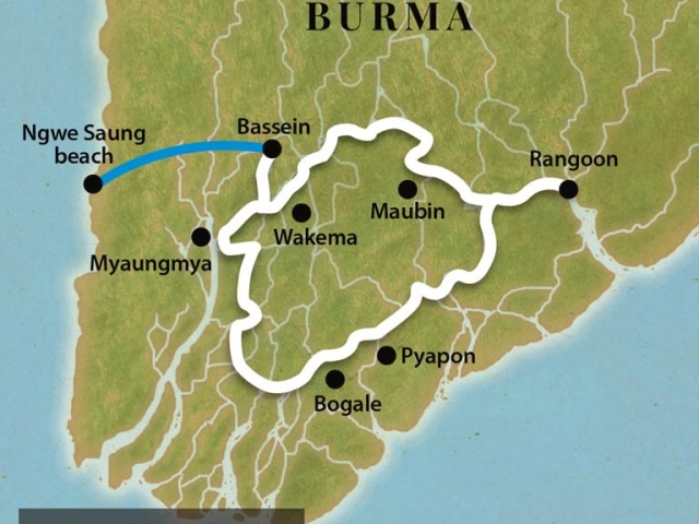 The Great Irrawaddy Delta - Map