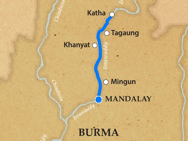 The Upper Irrawaddy - Itinerary and Map