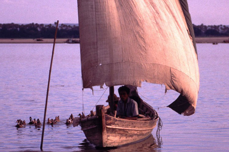 The Upper Irrawaddy River Scene