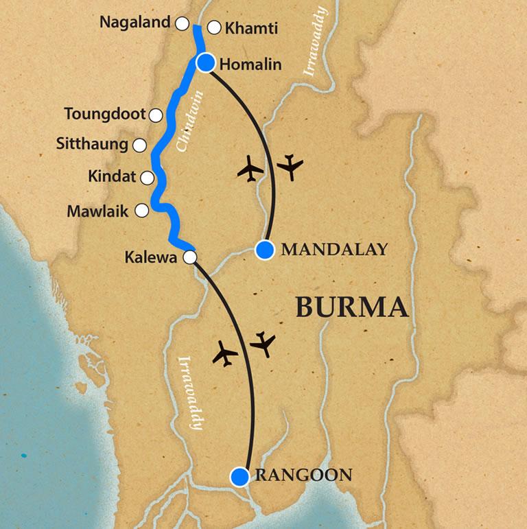 Nagaland - Itinerary and Map