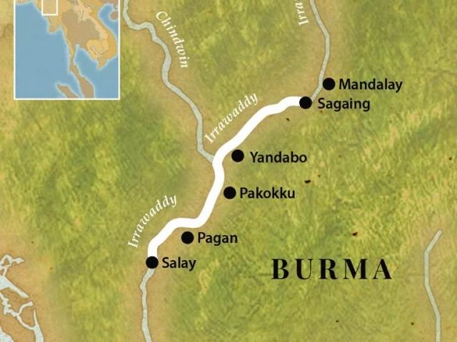 Mandalay Bagan Packet Itinerary and Map