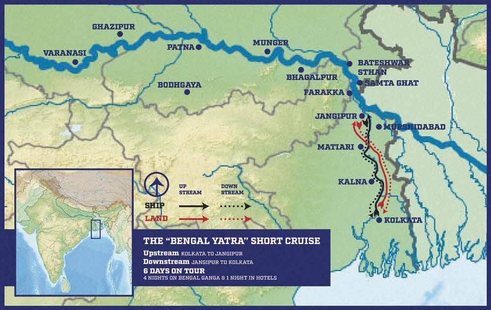 Bengal Yatra - Itinerary & Map