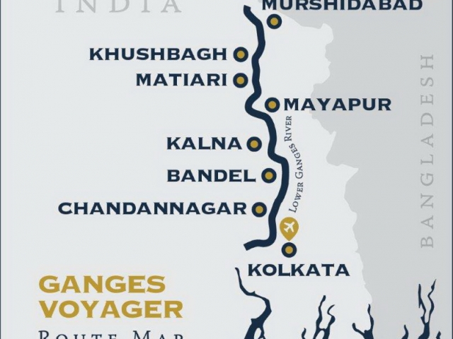 Kolkata-Murshidabad-Kolkata Itinerary & Map