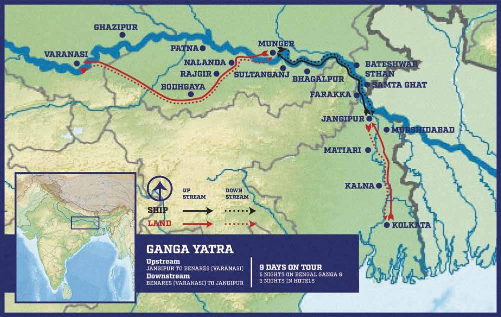 Ganga Yatra - Itinerary & Map