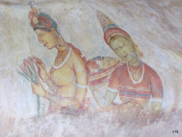 Sri Lanka, Sigiriya, Ancient Frescoes
