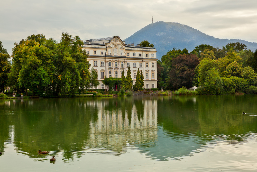 Austria, Salzburg, Schloss Leopoldskron (known as the Sound Of Music Palace)