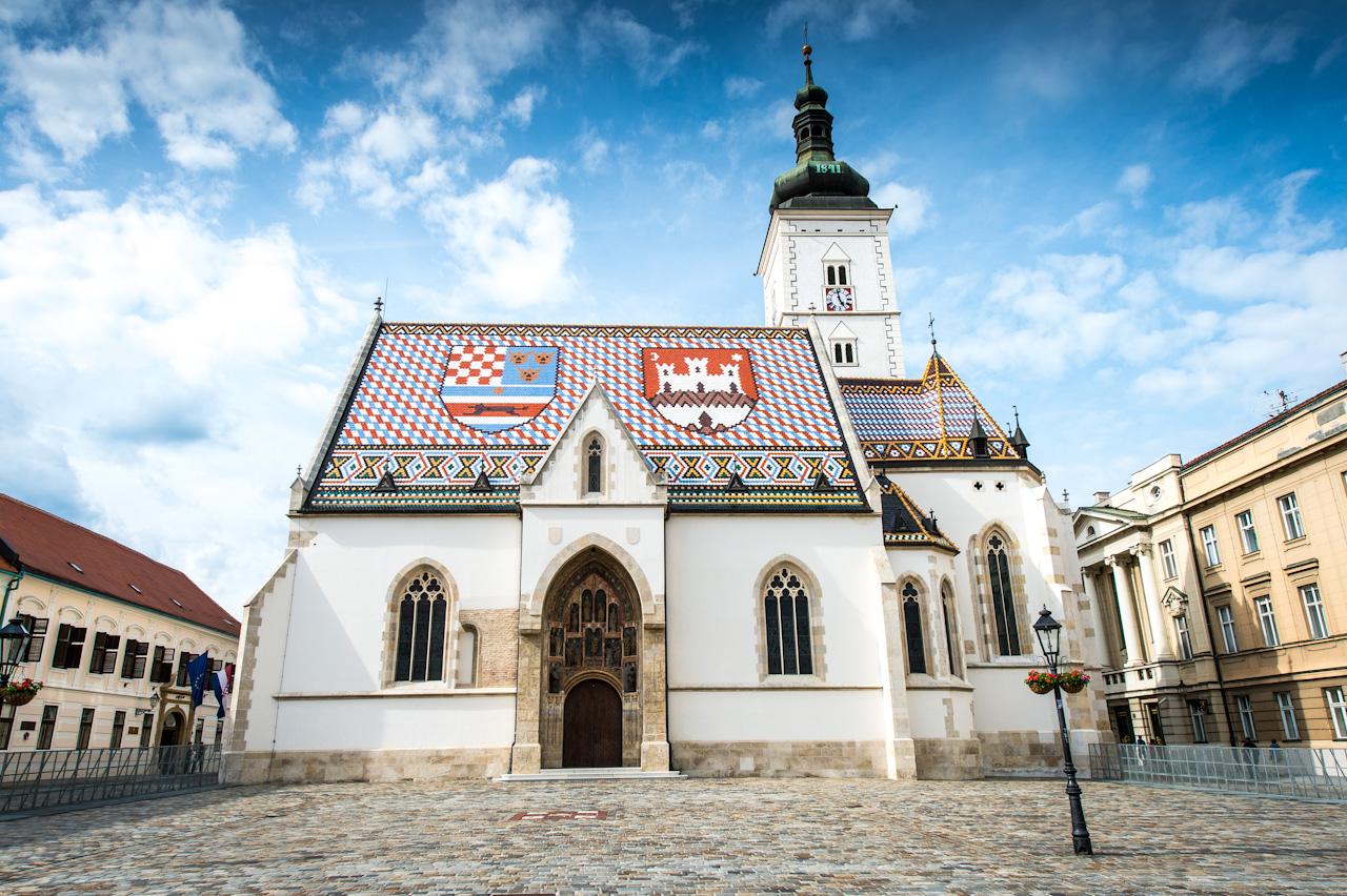 Croatia, Zagreb, St Marks Church