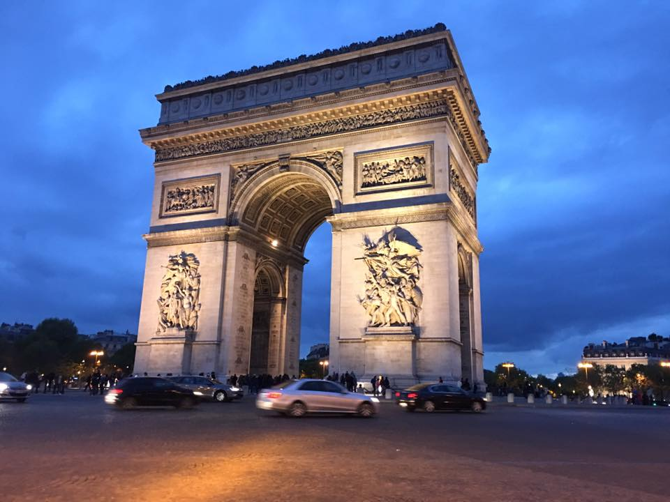 European Sampler, Arc de Triomphe, Paris, France