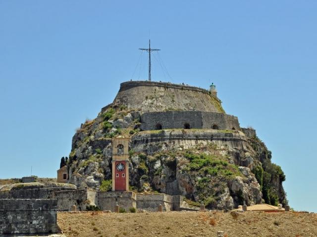 Greece, Corfu. Old Fortress of Corfu