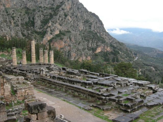 Greece, Dephi, Archaeological Site