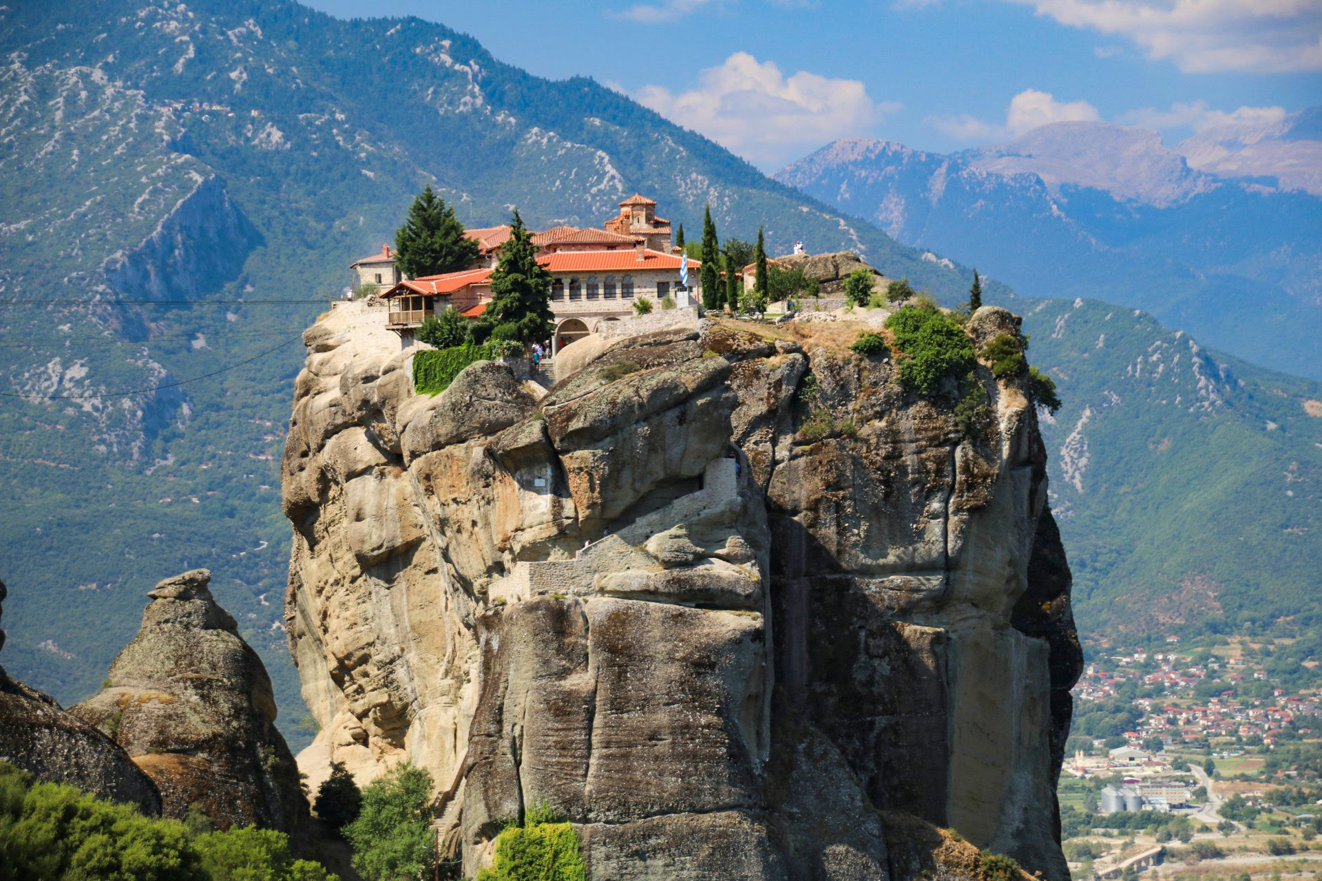 Greece, Meteora, The Monasteries Of Meteora