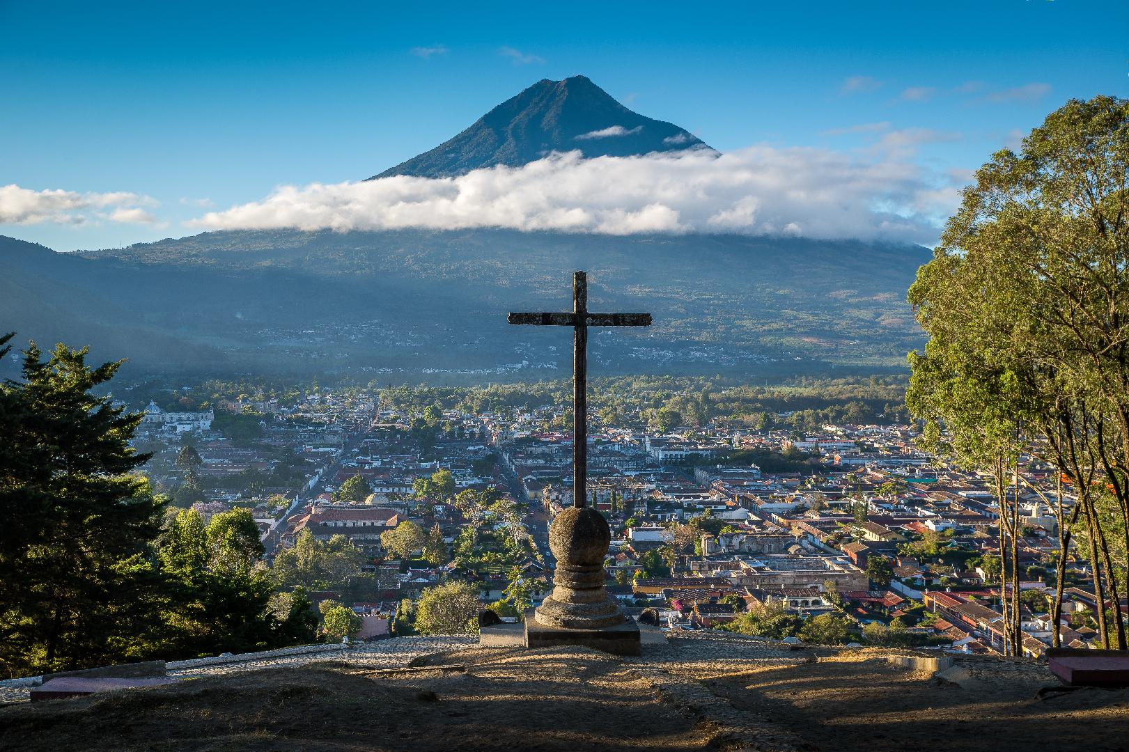 Guatemala, Agua Volcano, Cerro de la Cruz
