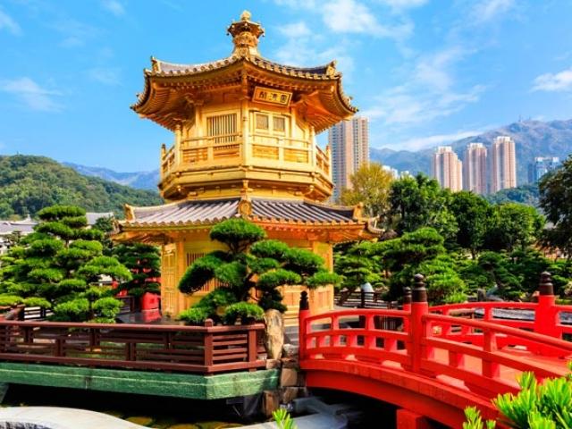 Hong Kong, Golden Pavilion, Nan Lian Garden