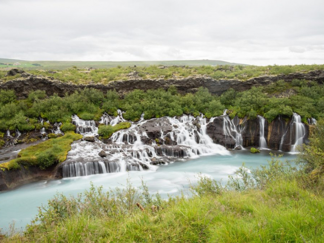 Iceland including the Blue Lagoon | Hraunfoss Waterfall, Iceland