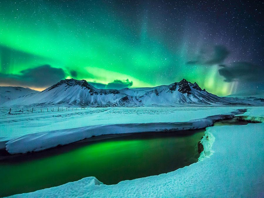 Iceland, Snaefellsnes peninsula, Northern Lights