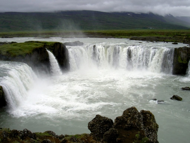 Iceland, Godafoss Waterfall