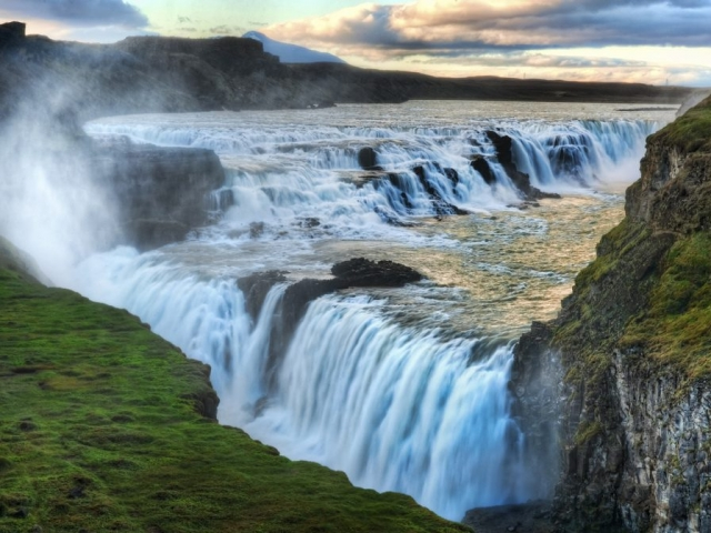 Iceland, Gullfoss Waterfall