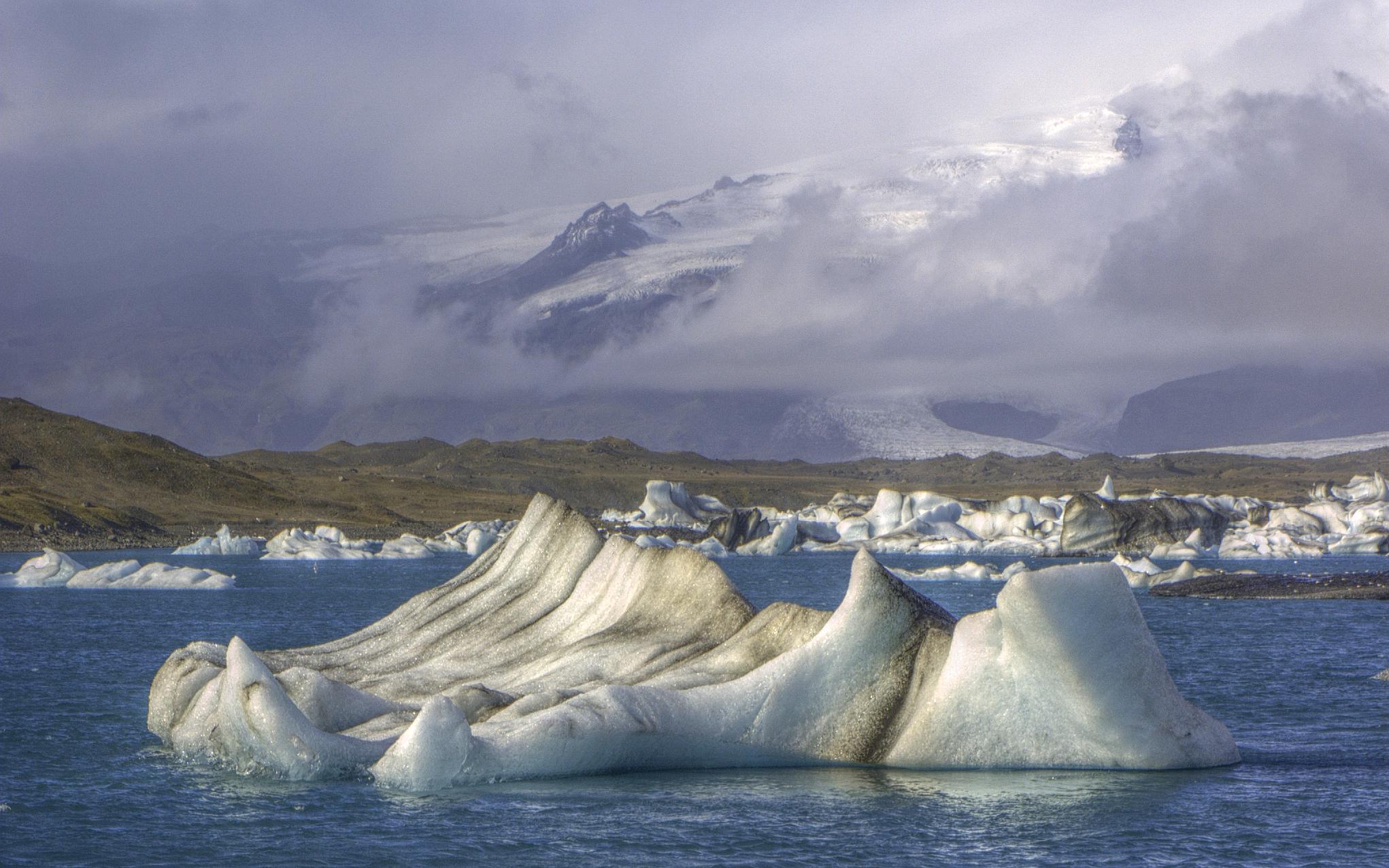 Iceland, Lake Jokulsarlon