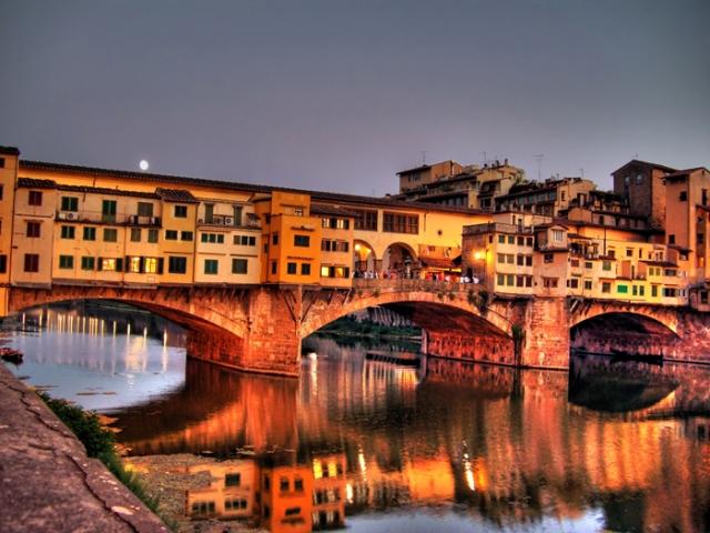 Italy, Florence, Ponte Vecchio Bridge