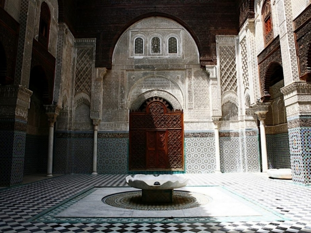 Morocco, Fez, Al-Attarine Madrasa
