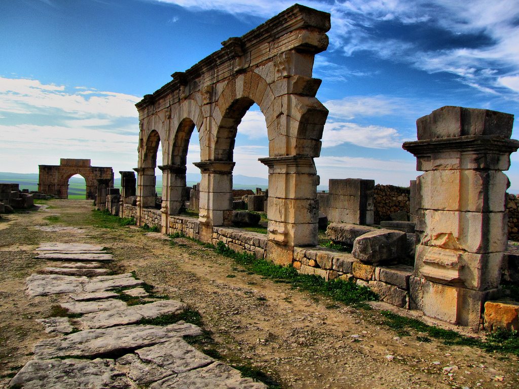 Imperial Cities Tour of Morocco, Roman ruins of Volubilis