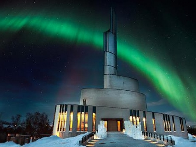 Norway, Alta, Cathedral of the Northern Lights