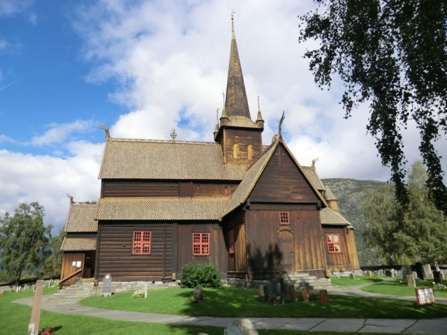 Norway, Lom, Stave Church