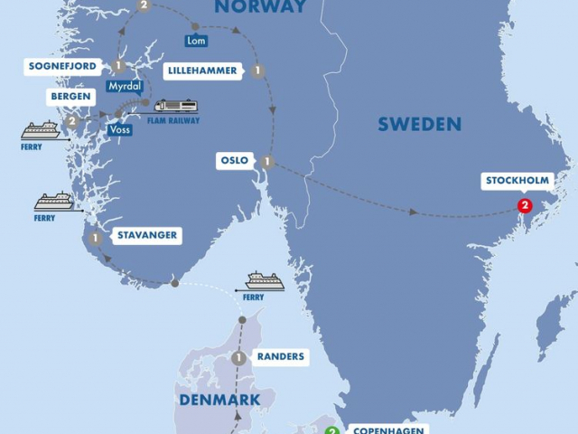 Scenic Scandinavia & its Fjords