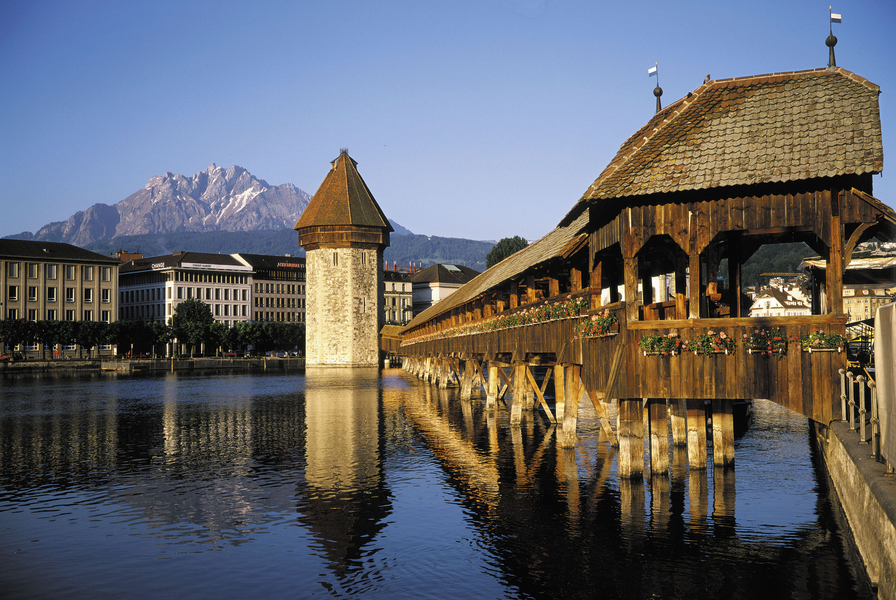 Switzerland, Lucerne, Chapel Bridge