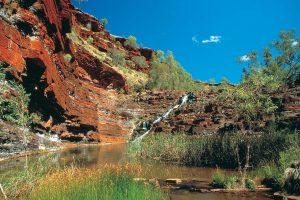 Wonders of the Pilbara & West Coast | Fortescue Falls, Karijini National Park, Pilbara, Western Australia